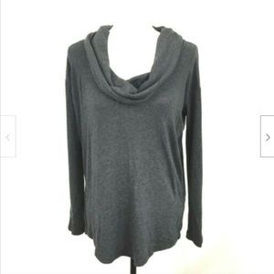 GAP Oversized LS Cowl Neck Stretch Top Sz XS